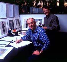 Don Bluth (seated) and Gary Goldman. © Twentieth Century Fox.