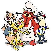 The Australian company, Southern Star's animated series Ketchup: Cats Who Cook. The series is now sold or under negotiation in 30 territories worldwide. © 1997 Southern Star Entertainment Pty and NHK.