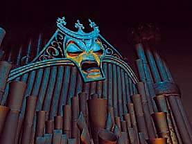 Forte, the evil organ in Beauty and the Beast: The Enchanted Christmas. © Walt Disney Home Video.