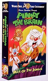 Mice of the Jungle, one of two Pinky and the Brain titles making its way from television to video this month. © Warner Bros. Home Video.