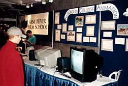 Many schools exhibited at SAFO, offering festival-goers an opportunity to look at the different educational programs available in animation. Photo © Animation World Network.
