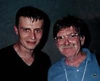 Fantoche organizer Frank Braun (left) and Swiss animator Robi Engler. © 1997 Animation World Network.