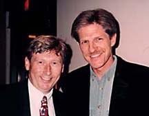 Among the distinguished guests of the evening Warner Bros. Feature Animation President Max Howard (left) and director Bill Kroyer. © 1997 Animation World Network.