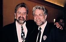 Matt Groening (left) and Animation World Magazine publisher Ron Diamond. © 1997 Animation World Network.