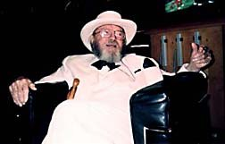 Chuck Jones looking very dapper during his interview with Animation World Magazine. © 1997 Animation World Network.