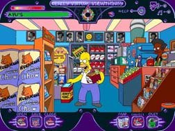 Homer explores Apu's Kwik-E-Mart in Virtual Springfield. © Twentieth Century Fox Home Entertainment.
