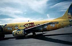Western Pacific's custom aircraft flew us from Los Angeles to Las Vegas. Download a Quicktime movie of the plane! © 1997 Animation World Network.
