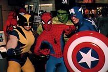 Marvel characters entertained attendees of Comic Con '97 in San Diego. Characters © Marvel Entertainment. Photo courtesy of Comic Con International.