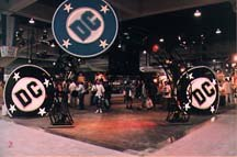 DC Comics occupied a block of space on the `97 Comic Con showroom floor. Photo courtesy of Comic Con International.