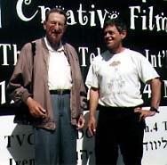 Zack Schwartz and festival director, Tsvika Oren.