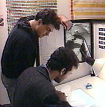 Artists at work in the studio.