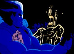 ...a scene from the animated X-Men series by Saban.