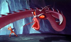 Hercules in one of his attempts to prove himself a hero, battles Hydra, a 3-D computer-animated monster. © Disney Enterprises, Inc. All rights reserved.