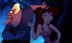 Hercules' love interest, Megara, is a surprisingly liberated heroine for a Disney animation film. She is, of course, under the influence of the satanic Hades. © Disney Enterprises, Inc. All rights reserved.