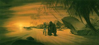 Etude pour le film L'extraordinaire Odyssée de Corentin Feldoë. © Cuvelier-Lombard.