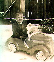 Jerry in his first sportscar, 1939.
