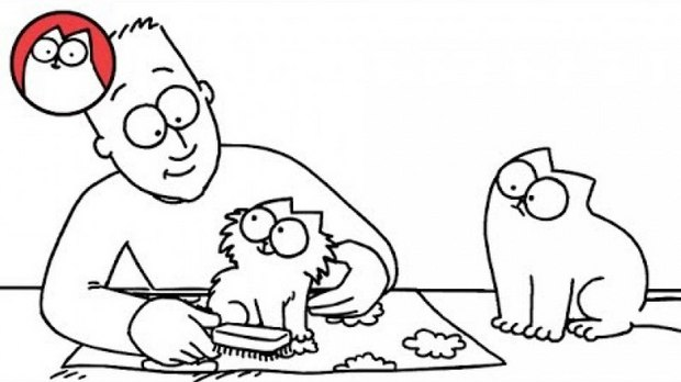 simon cat free coloring pages - photo#3
