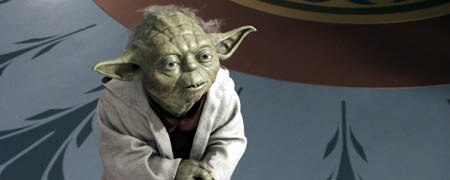 The CG version of Yoda allowed the animators to add depth and expression to his eyes. All images © Lucasfilm Ltd. & TM. All rights reserved. Digital work by Industrial Light & Magic.