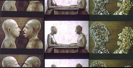 Mind Games: Three different scenes from the film Dimensions of Dialogue, which won the Annecy Grand Prix in 1990. All images © Athanor.