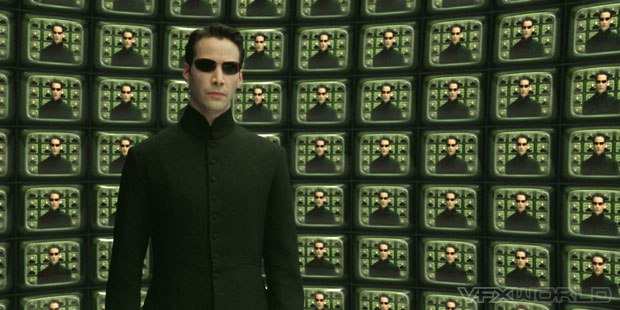 Keanu Reeves manages to look even cooler than normal in the IMAX format of The Matrix Reloaded. All photos courtesy of Warner Bros. Pictures.