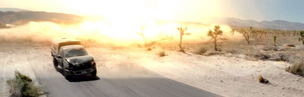 Terminator 3 starts with a bang and doesn't let up. This desert fuel cell explosion was created by ILM. All images courtesy of ILM. ©2003 IMF Internationale Medien und Film GmbH & Co. 3 Produktions KG.