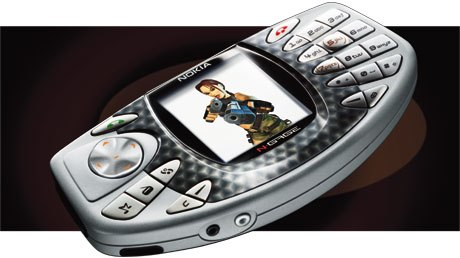 Its a phone! Its a game deck! Either way, the N-Gage by Nokia means work for animators. © Nokia 2003.