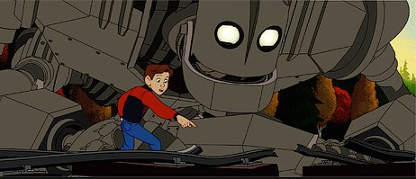 The great non-violent animated feature, The Iron Giant, bombed out at the box office. All Iron Giant images courtesy of and © 1999 Warner Bros.