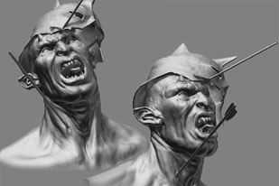 The ZBrush was one of the technical highlights of 2003. Dave Cardwell, digital modeler for Weta, used the latest Beta version of the software to create the images above. All Pixologic images © Pixologic Inc.