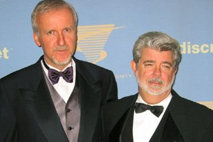 The Man of the Hour: George Lucas accepted VES first Lifetime Achievement Award from Jim Cameron. All photos: Sarah Baisley.