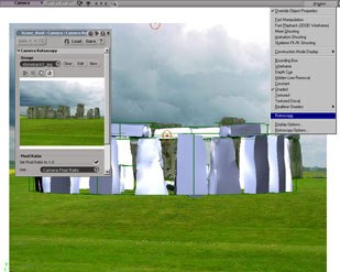 Stonehenge done in XSI, rendered with mental ray. All Mesmer images © 2004 Mesmer Inc. and Anthony Rossano.