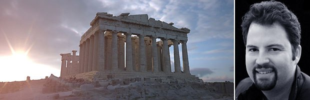 Dr. Paul Debevec and his realistic recreation of the Parthenon. All images © 2004 University of Southern California.