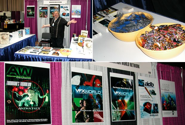 AWN and VFXWorlds booth at SIGGRAPH 2004. We had the good candy. All images courtesy of AWN.