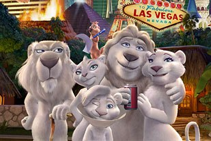 At $2 million an episode, Father of the Pride is a huge Vegas-style gamble for both NBC and DreamWorks. All images © DreamWorks.