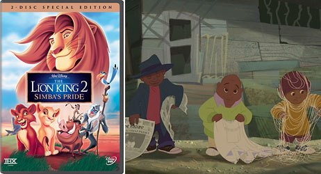 Fans of The Lion King 2 get an extra treat on the new DVD  Disneys short film, One by One. All images © Walt Disney Enterprises.