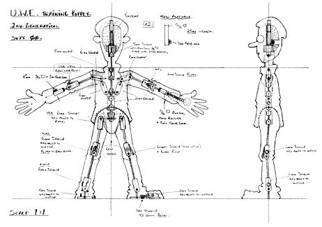 Scale drawing for armature. Courtesy John Parsons.