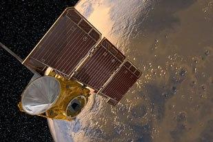 The Mars Odyssey spacecraft in orbit around Mars. All Images Courtesy of NASA/JPL-Caltech/SSV Team.