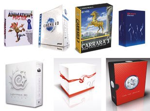 [Figure 11] CG software packages come with a variety of specific features and price tags.