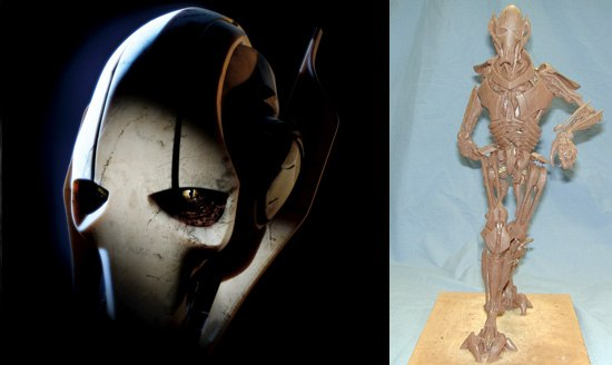 General Grievous was designed to be a precursor to Anakin/Darth Vader, and he represents the technology that will ultimately consume Anakin. All images © &  Lucasfilm Ltd. All rights reserved. Digital work by ILM.