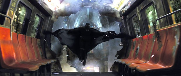A new Batman descends onto movies screens. Courtesy of Double Negative. All images © 2005 Warner Bros. Ent. All rights reserved.