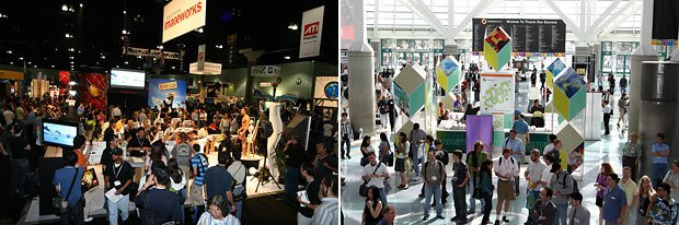 Though appearing smaller, SIGGRAPH actually drew a larger crowd. All images courtesy of SIGGRAPH.