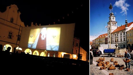 Set in the picturesque city of Trebon, Anifest screenings take place outdoors in the evenings. Courtesy of Corona-Anifest (left) and © Philippe Moins.