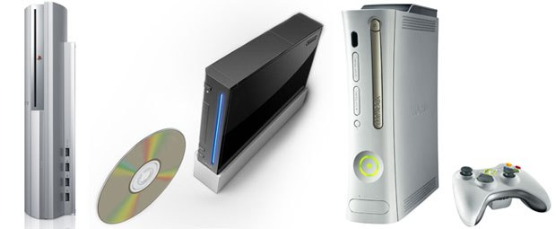 Here come the next-generation of videogame consoles: PlayStation 3, Revolution and Xbox 360 (left to right). All require new skills and gaming companies seek additional artists from various industries to enhance their teams.