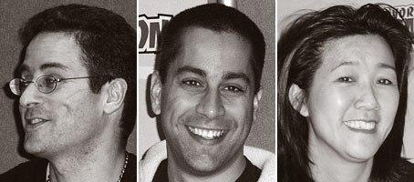(l to r) Viz panel director of sales Gonzalo Ferreyra, marketing director Anthony Jiwa and svp Liza Coppola.