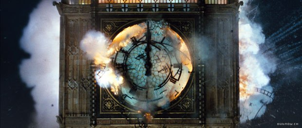 When seminal London buildings are destroyed in the fascist England depicted in V for Vendetta, Cinesite produced the sequences. Above, Big Ben was created in a 30 miniature. All film images courtesy of Warner Bros.