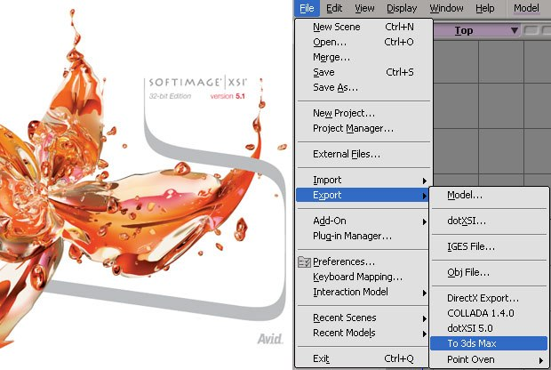 Softimage has a new version of their animation program, XSI 5.1 One of the most important aspects of this release is the huge amount of new import/export tools. All screen shots courtesy of Ed Harriss, unless noted otherwise.