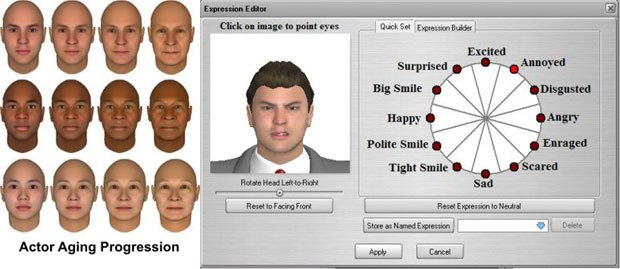 Two of the big improvements is the more realistic-looking actors and expression controls.