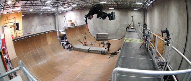 Skateboard superstar Tony Hawk, shown here during MoCap filming, is ready to join the ranks of athletes who gain movie stardom. Tony Hawk in Boom Boom Sabotage is slated for a fall DVD release. All images © Mainframe Ent.