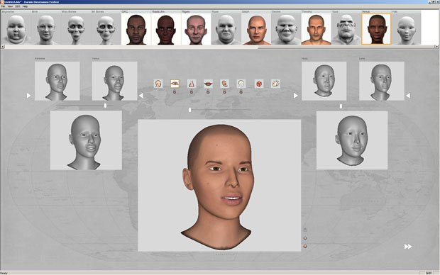 The Character Builder interface allows you to create characters by choosing their ancestors from a library and mixing together different features to create a new character. All images courtesy of George Maestri.