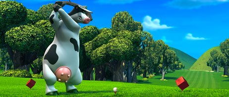 Barnyard was sprung from a Steve Oedekerk musing that there is a world in which animals stand up once humans leave the room. All Barnyard images © 2006 by Paramount Pictures and Viacom International Inc. All rights reserved.
