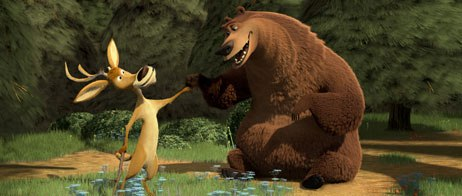 The directors of Open Season wanted more than just a classic buddy pairing between Boog and Elliot. They strived to develop a sandpaper relationship between them. All images © Sony Pictures Ent.